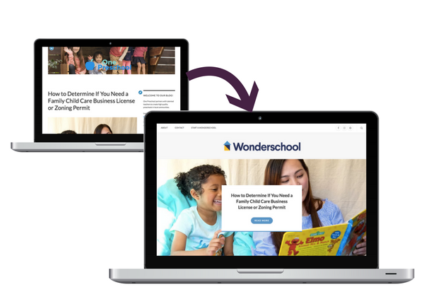 Migrating Wonderschool to new blog